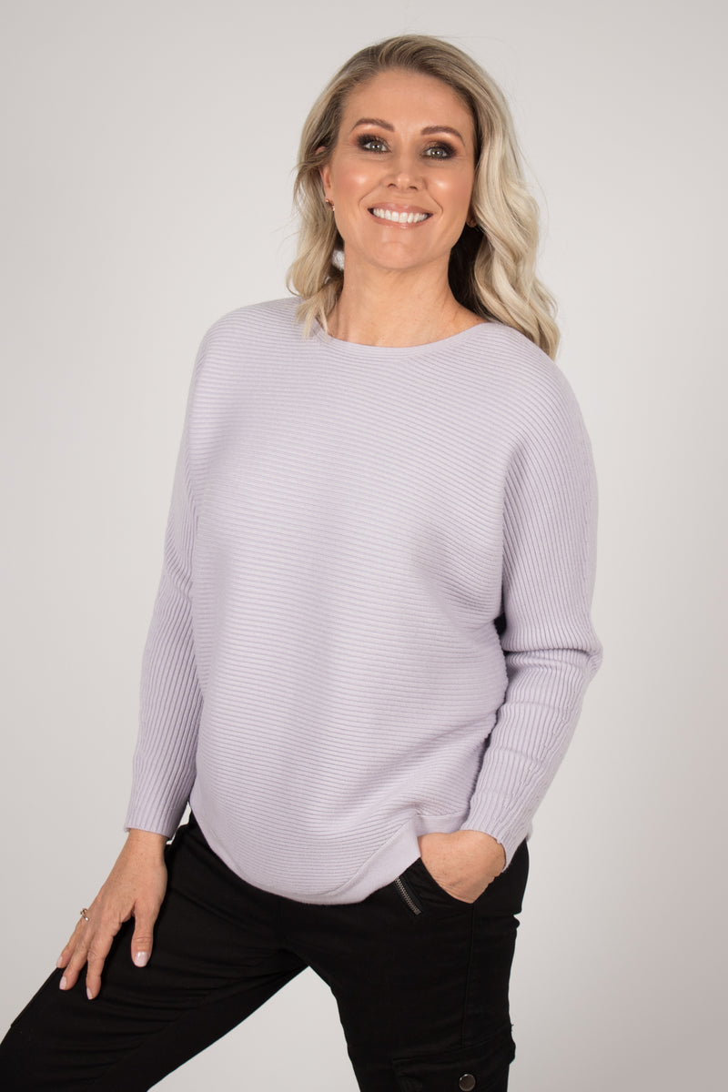 Melanie Knit Top in Mauve