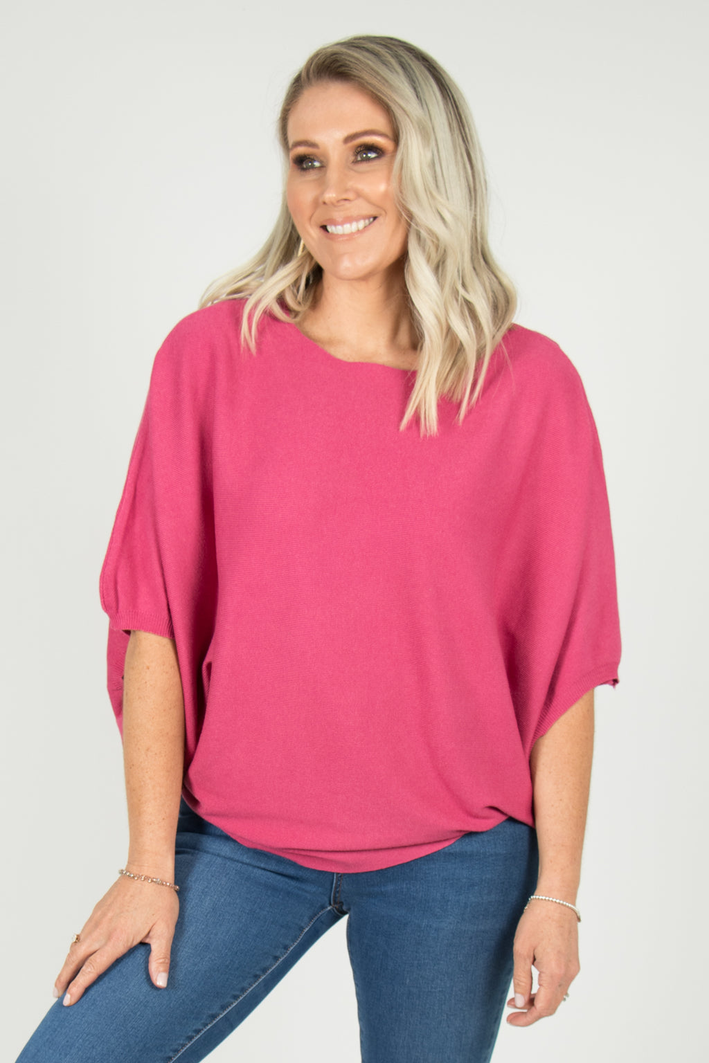 Kenna Knit Top in Hot Pink
