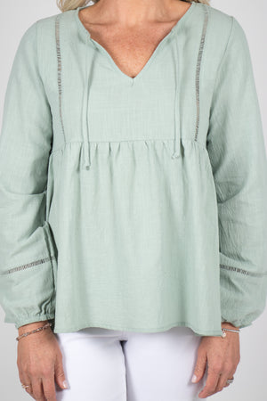 Brielle Top in Sage