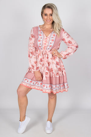 Luna Dress in Pink