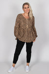 Georgie Top in Leopard