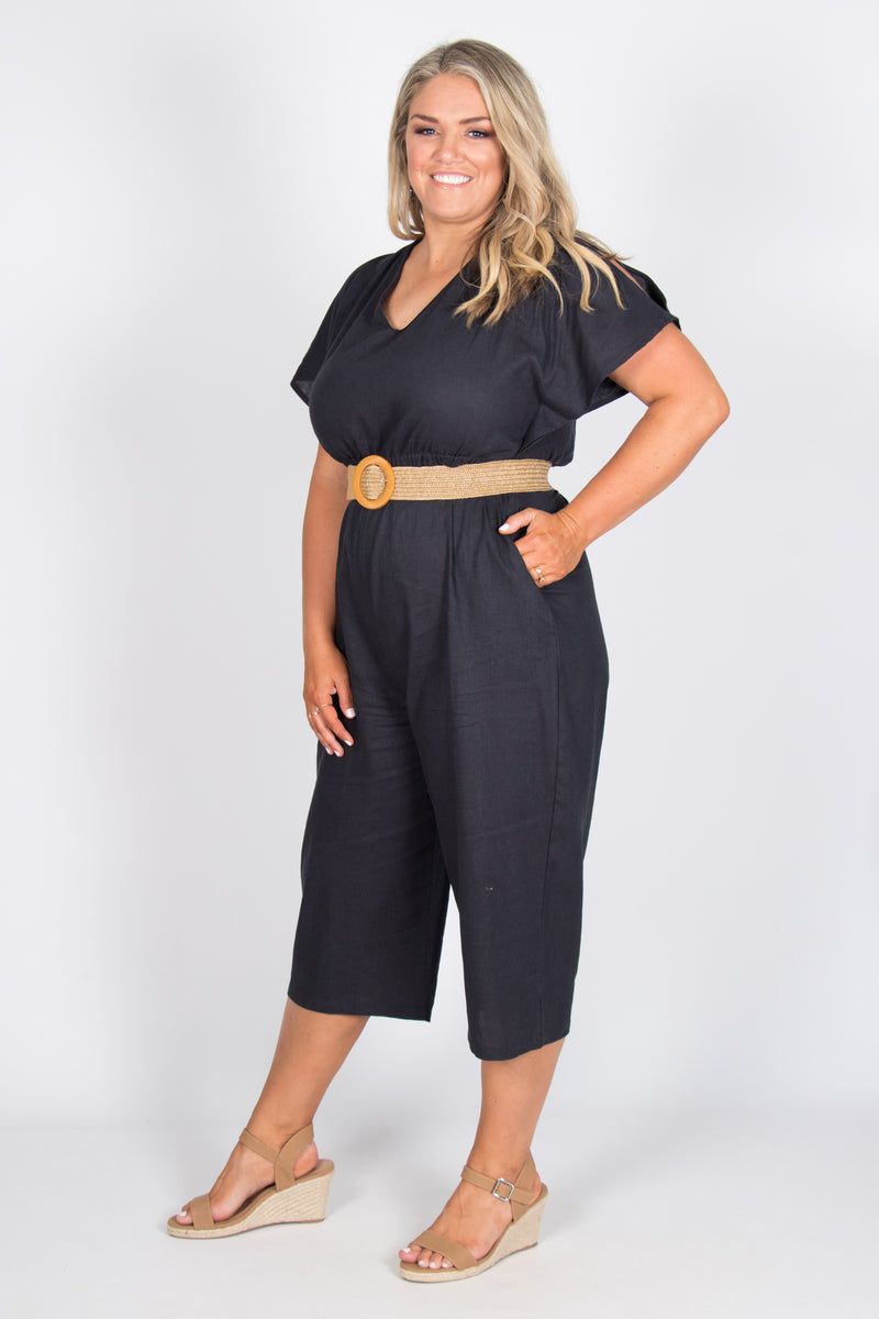 Jules Jumpsuit in Indi Grey