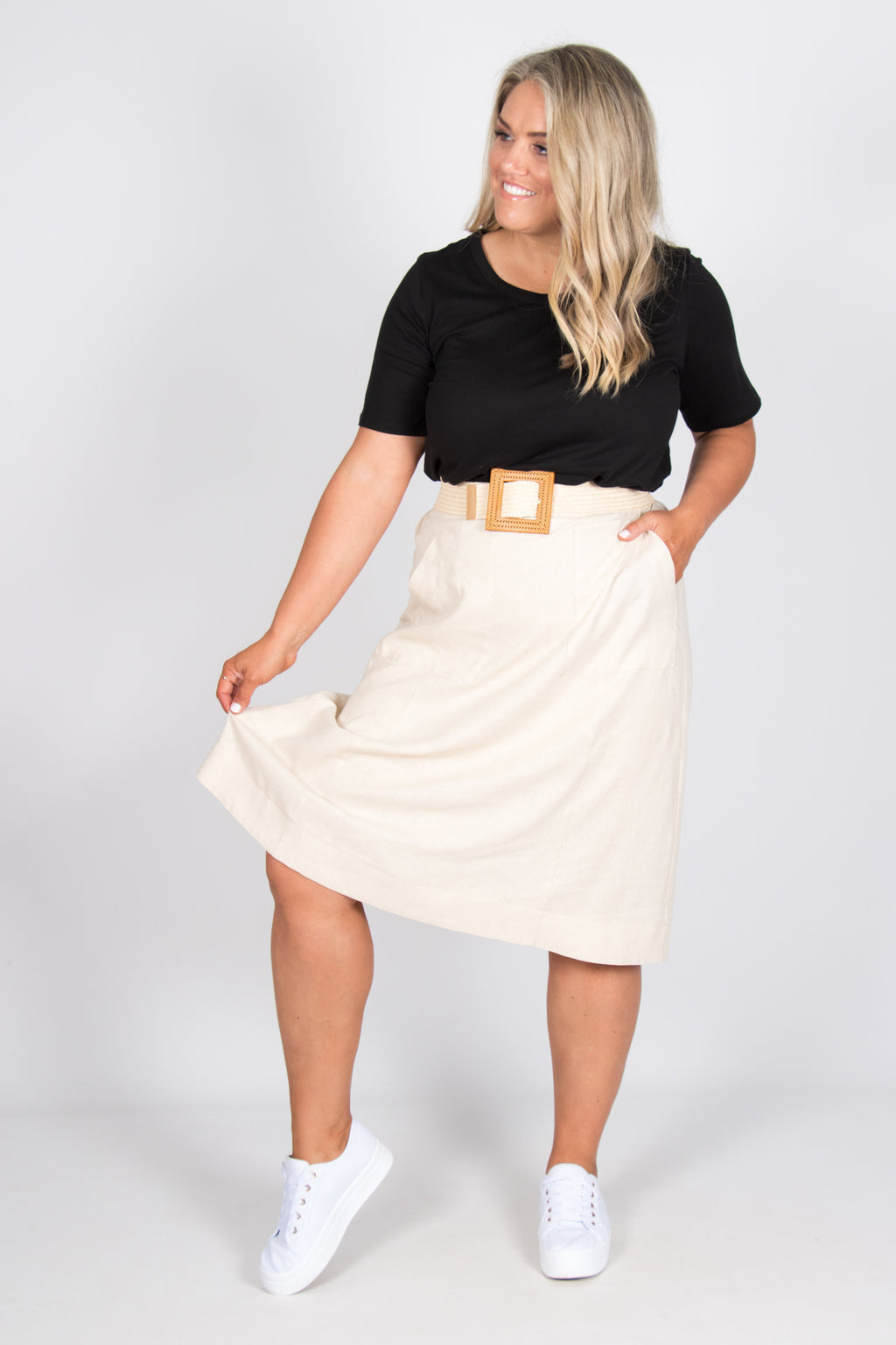 Morgan Skirt in Wheat