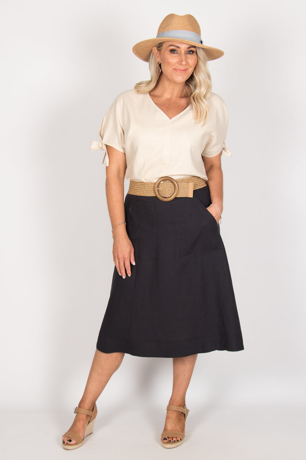 Morgan Skirt in Indi Grey