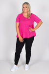 Sofia Top in Fuchsia