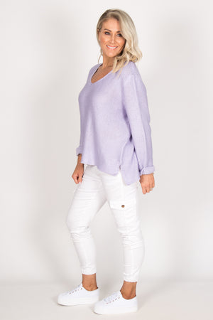 Elements Knit Jumper in Lilac