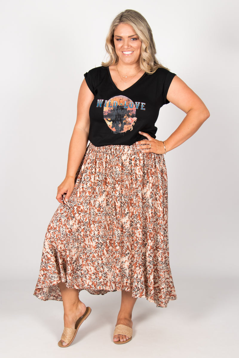 Zoe Skirt in Desert Earth