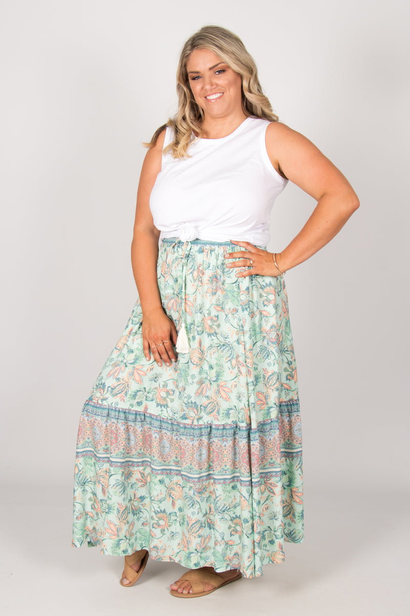 Belair Skirt in Mint