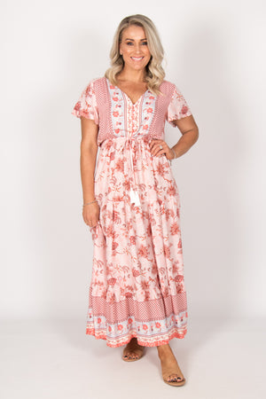 Kalani Dress in Pink