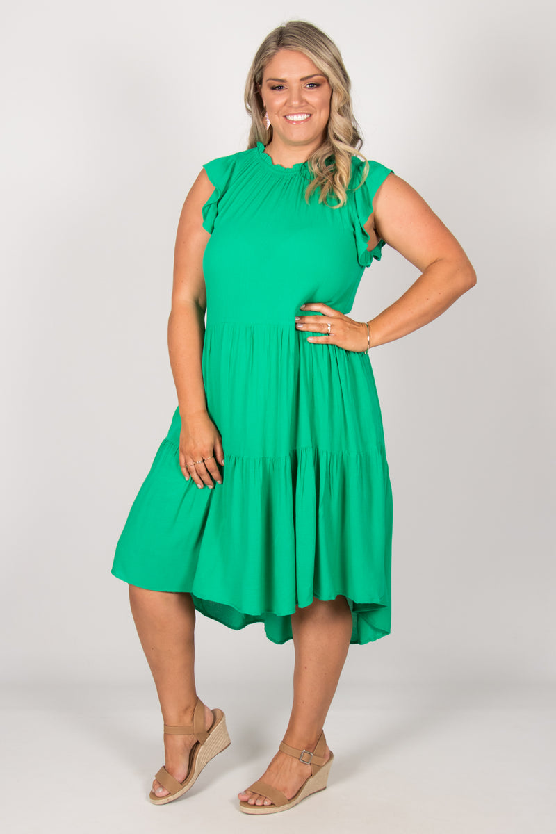 Joslin Dress in Green