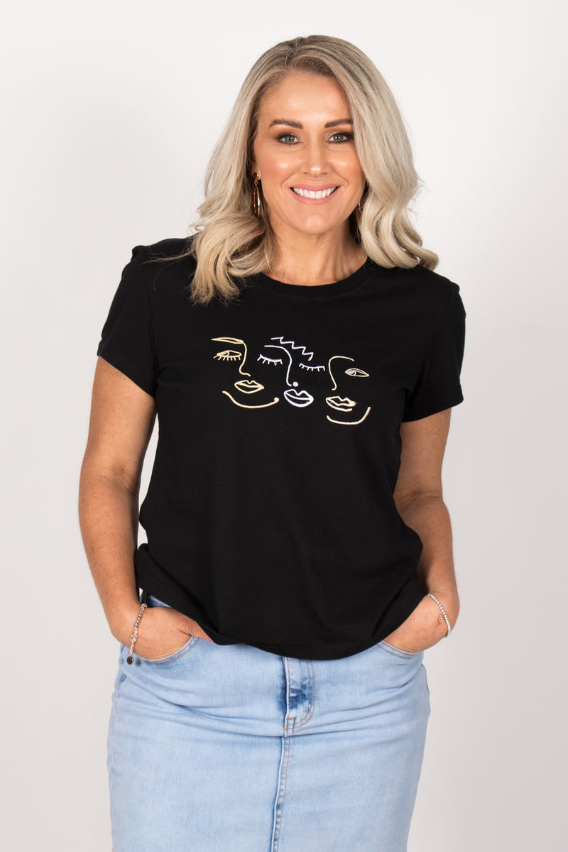 Abbie Tee in Black