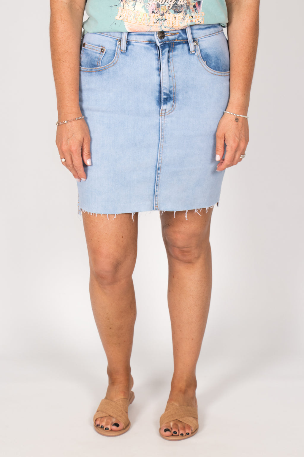 Carlin Denim Skirt in Light