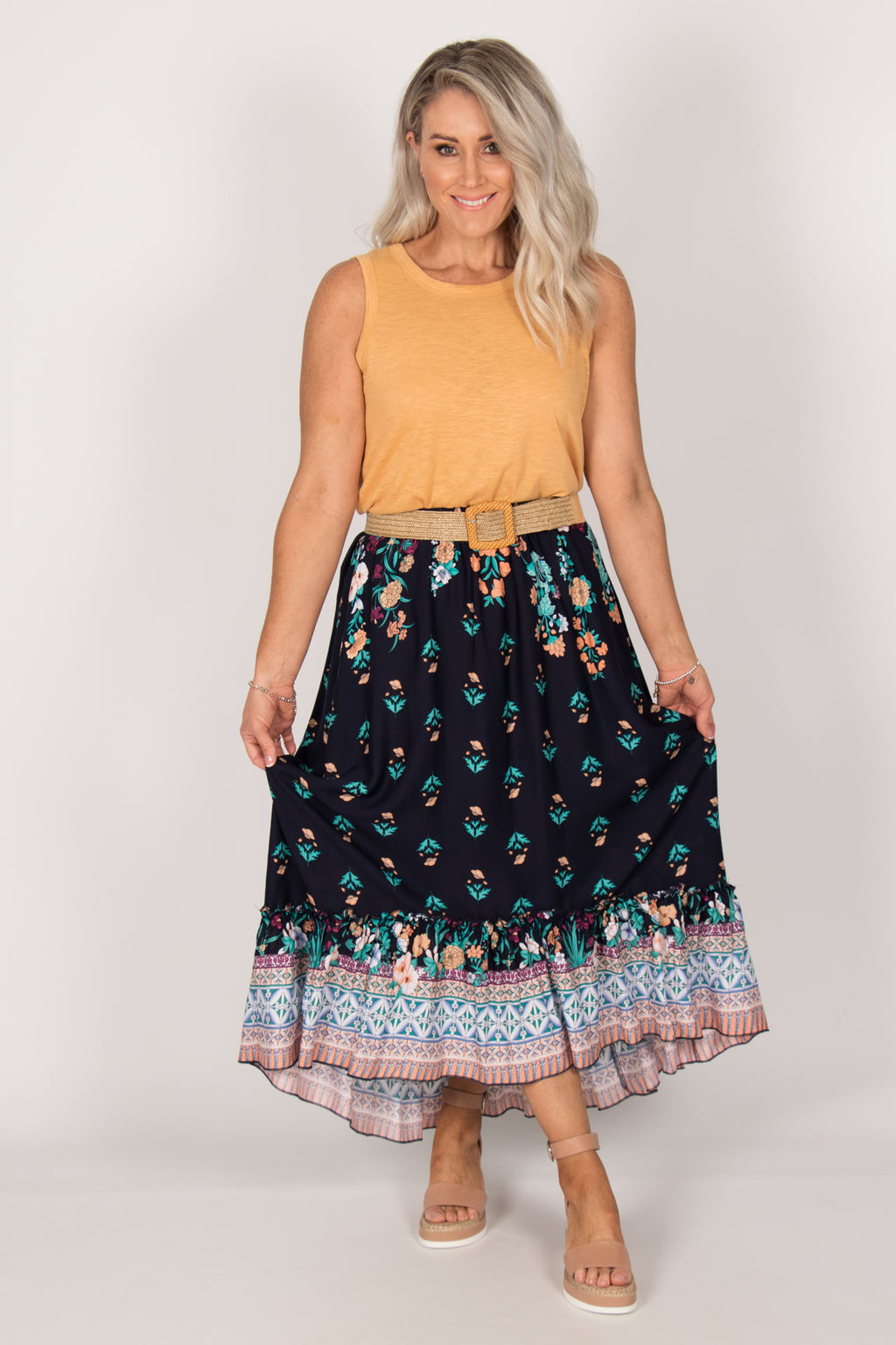 Tia Skirt in Navy
