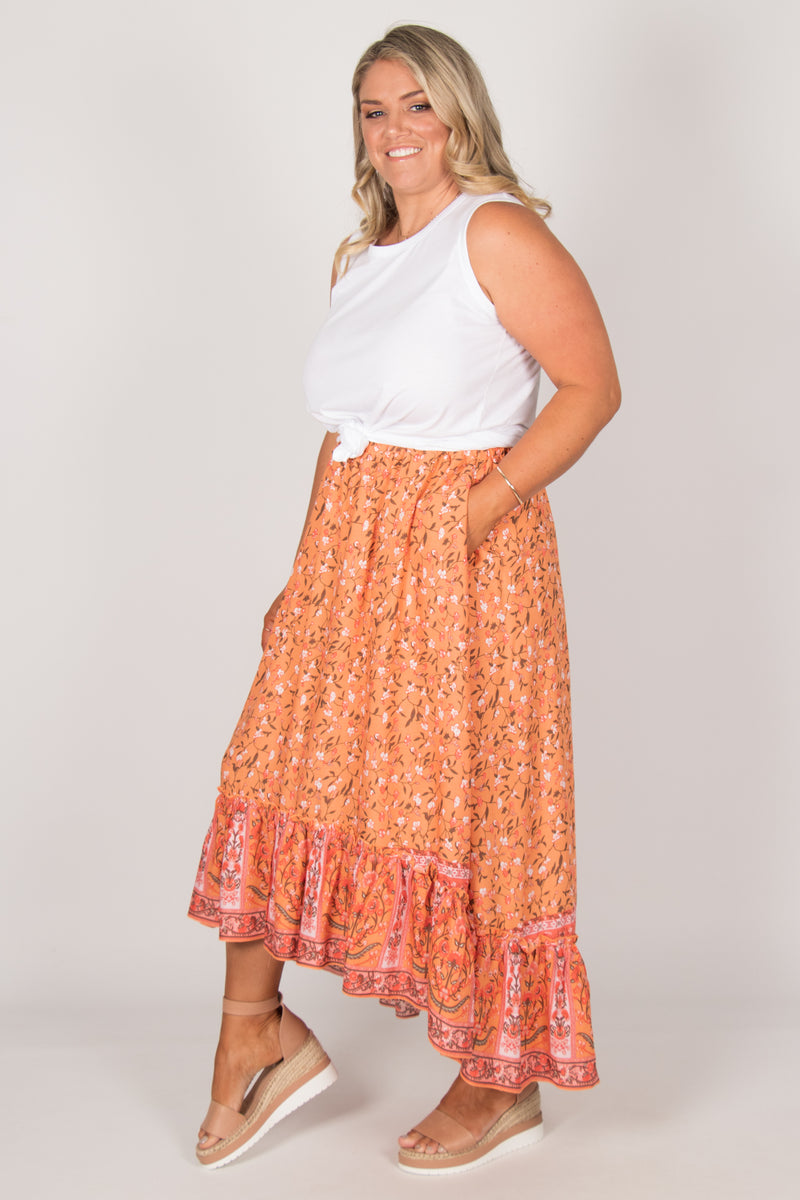 Tia Skirt in Orange