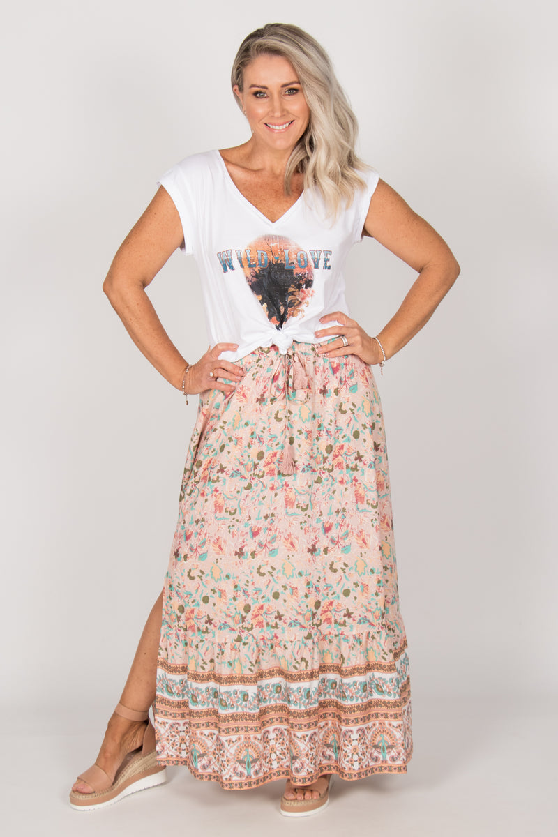 Jacquie Skirt in Soft Pink