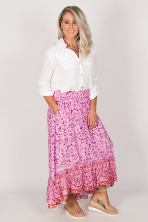 Tia Skirt in Fuchsia