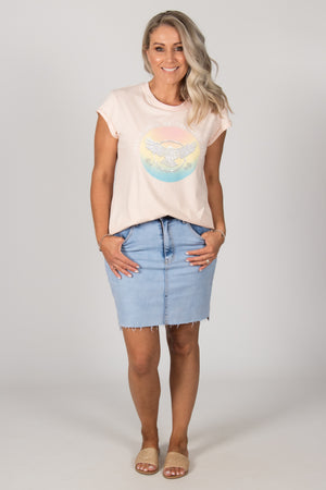 Take A Walk Tee in Peach