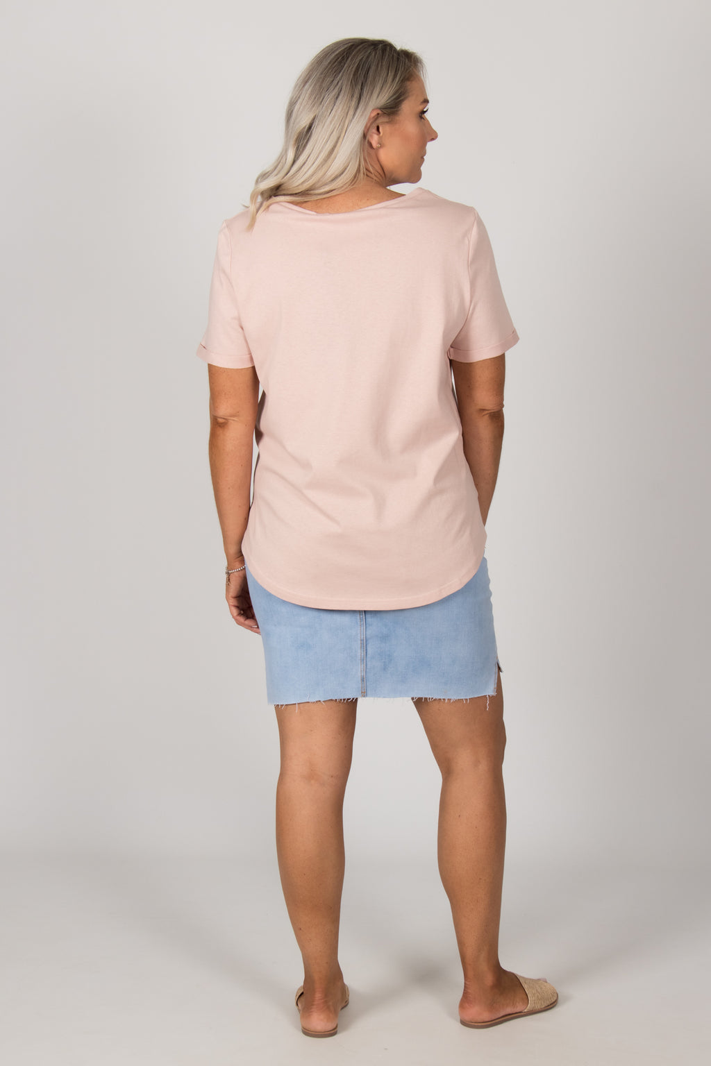 Bannister Tee in Nude