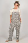 Lizzy Overalls in Cream/Black