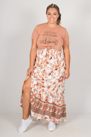 Amari Skirt in White Boho