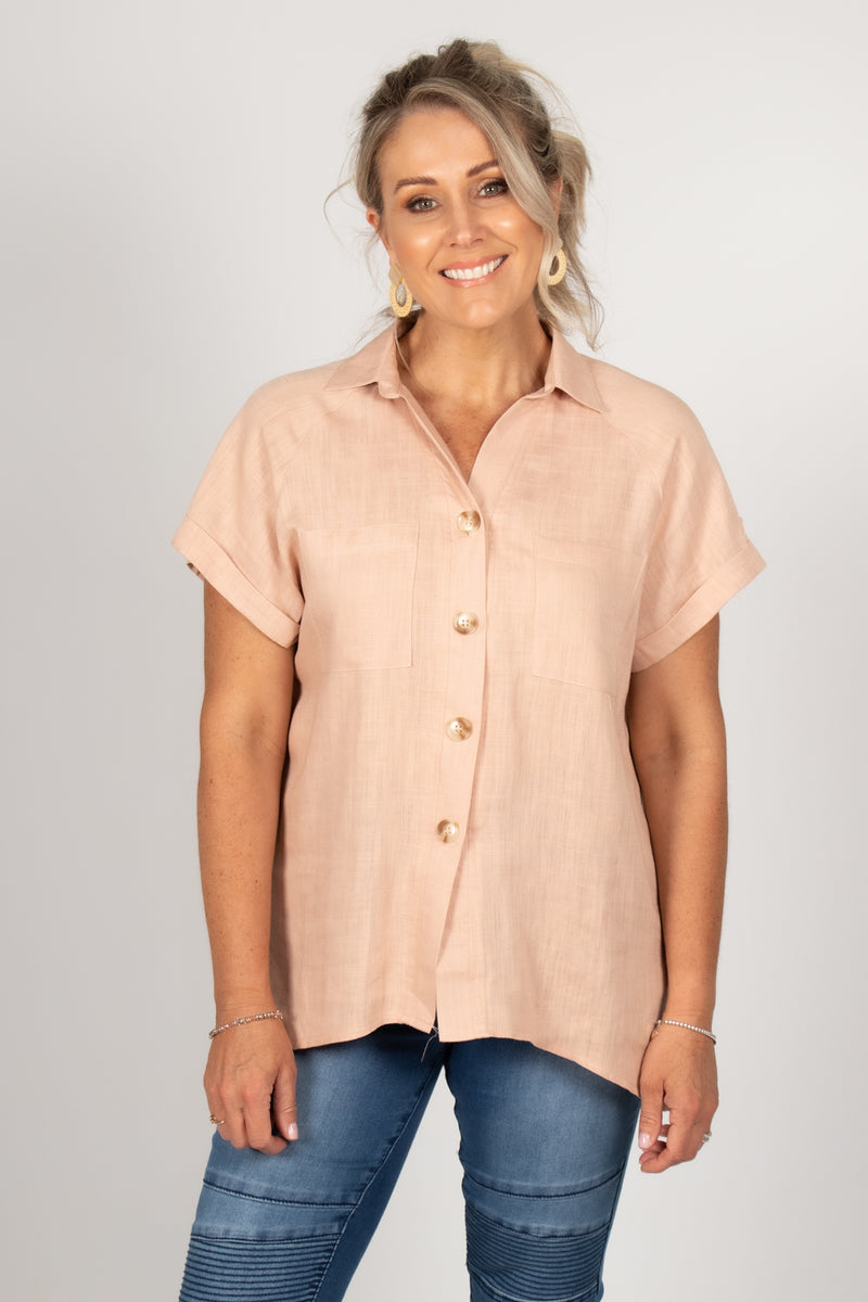 Halo Shirt in Nude