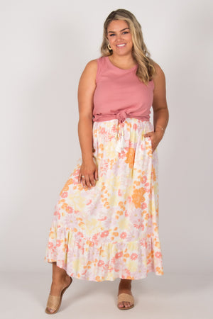 Finley Skirt in Pastel Floral
