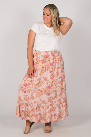 Finley Skirt in Blush Floral
