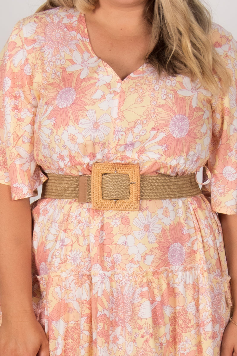 Lucy Stretch Belt in Natural Square