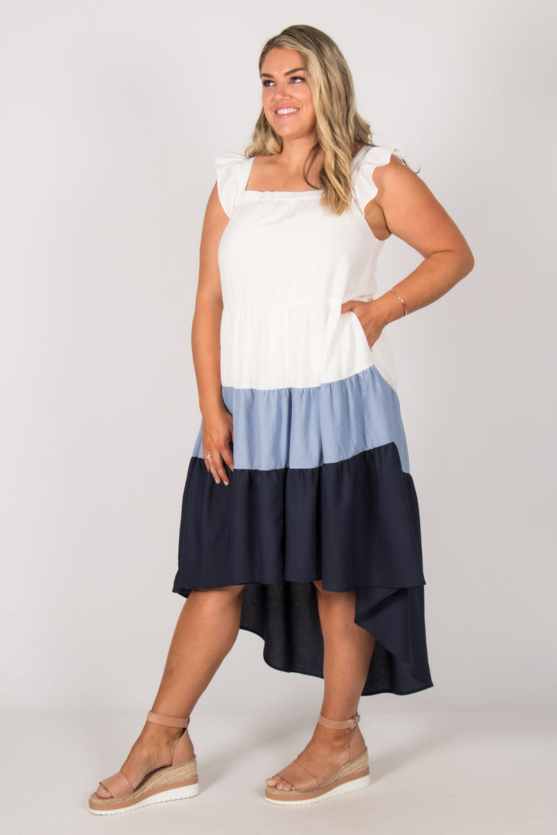 Dunlea Dress in Blue