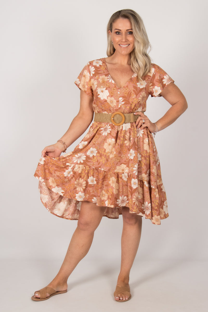 Brooklyn Dress in Caramel Dreams