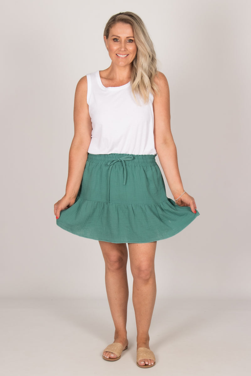 Claire Skirt in Teal