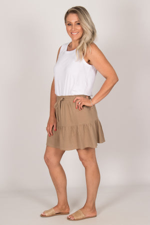 Claire Skirt in Tan