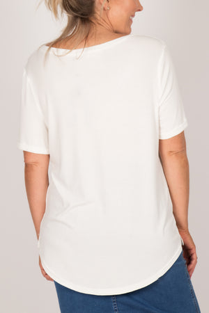 Ave Tee in White