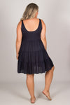 Asha Dress in Navy
