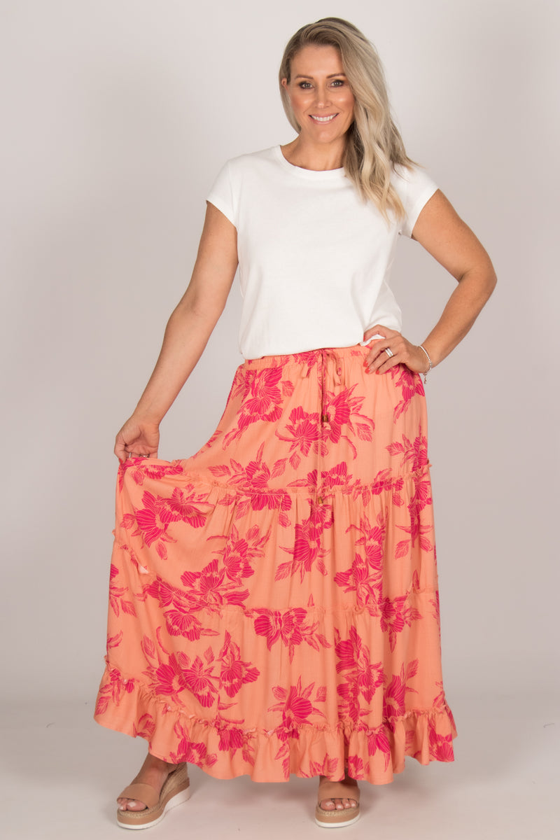 Bree Skirt in Peach