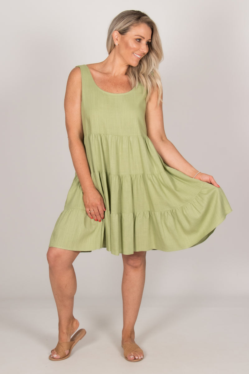 Asha Dress in Avocado