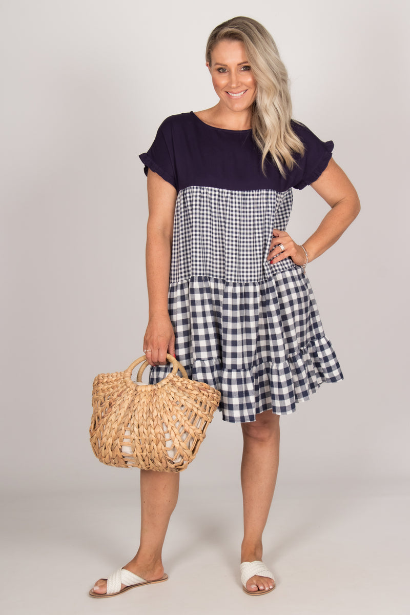 Reese Dress in Navy