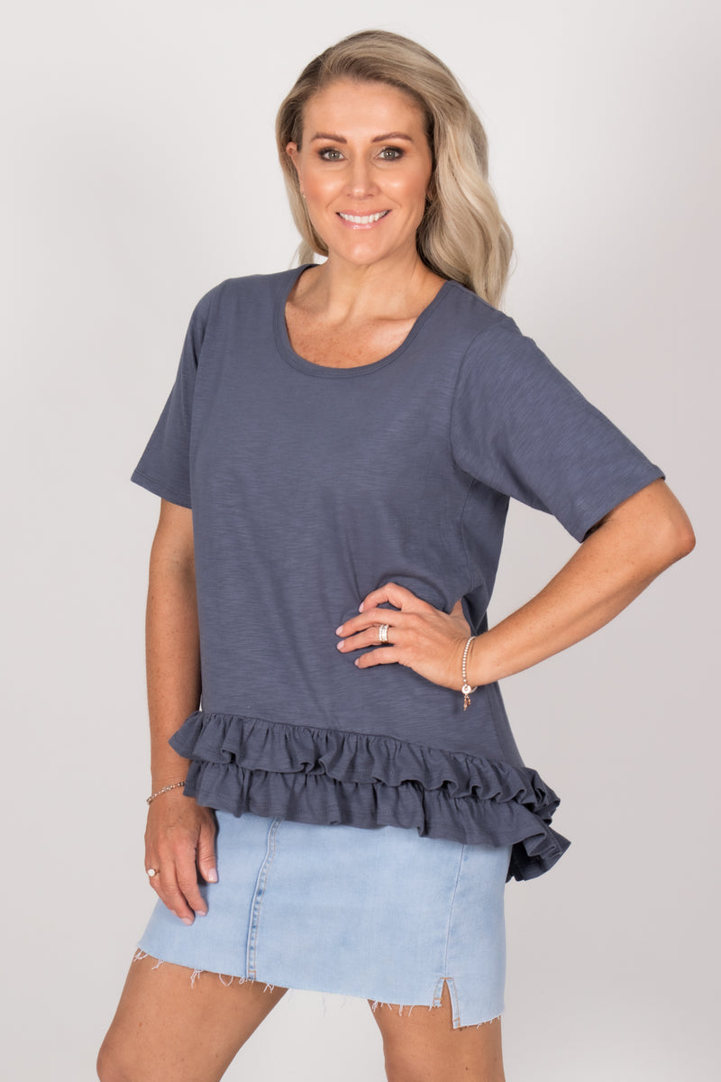 Sorrento Tee in Indi Blue