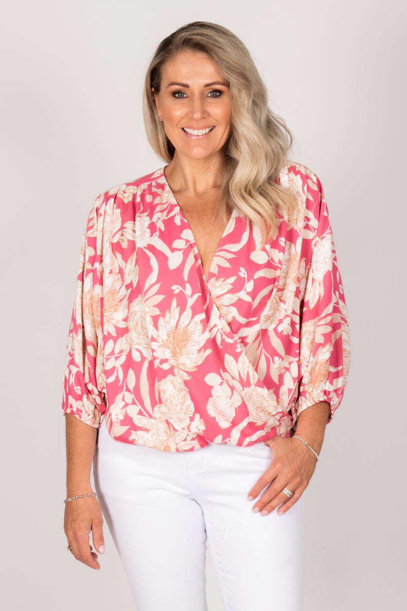 Lexi Top in Pink Sands