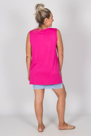 Barbados Tank in Fuchsia