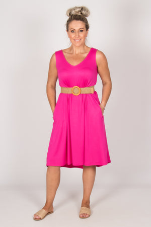 Oman Dress in Fuchsia
