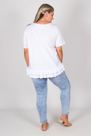 Sorrento Tee in White