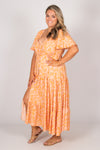 Albion Dress in Peach/Orange