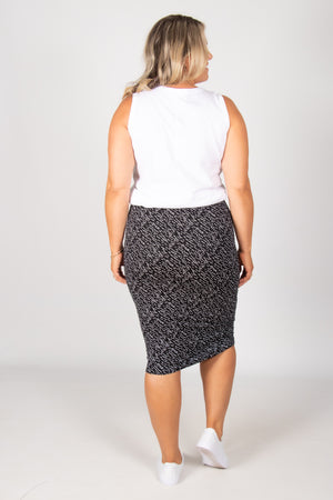 Maya Reversible Skirt in Geo