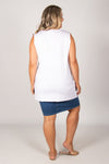 Barbados Tank in White