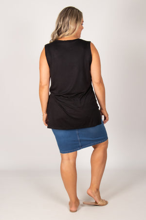 Barbados Tank in Black