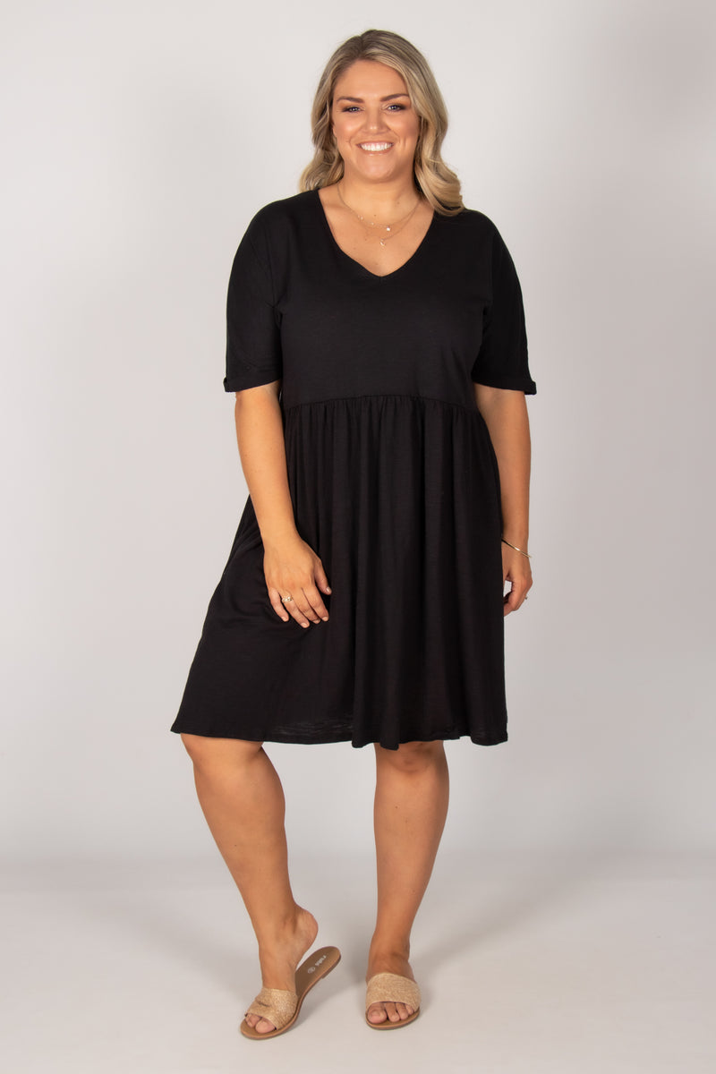 Portsea Dress in Black