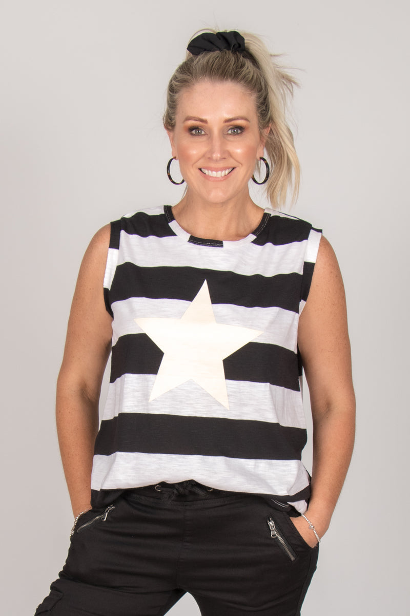 Star Tank in Stripe