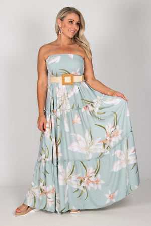 Ally Maxi Dress in Mist