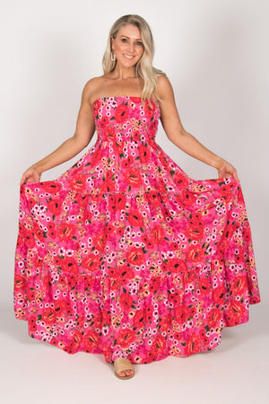 Ally Maxi Dress in Pink